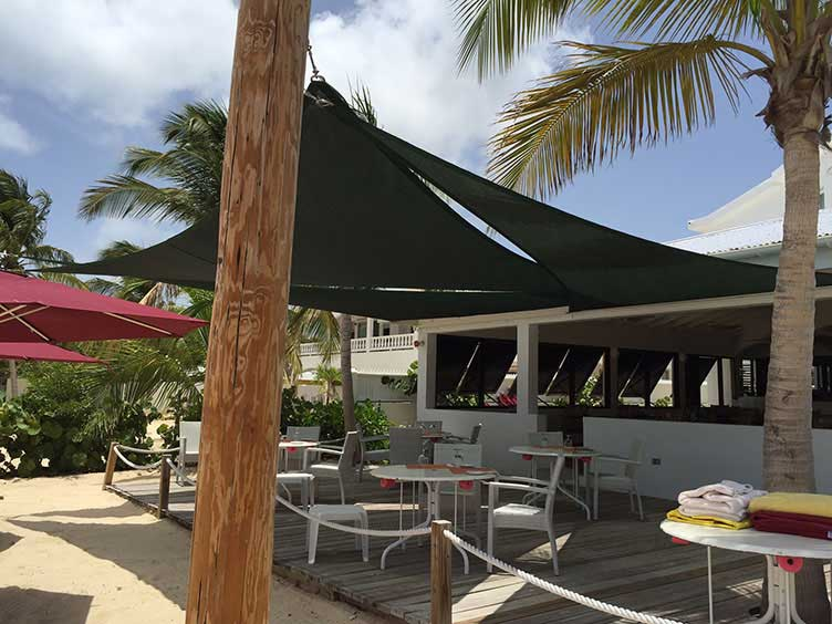 Picture of shade sail from customer